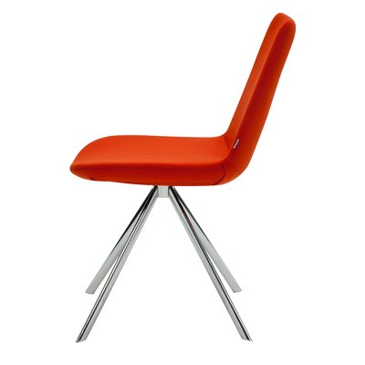 Pera Elips Wool Side Chair Upholstery: Orange