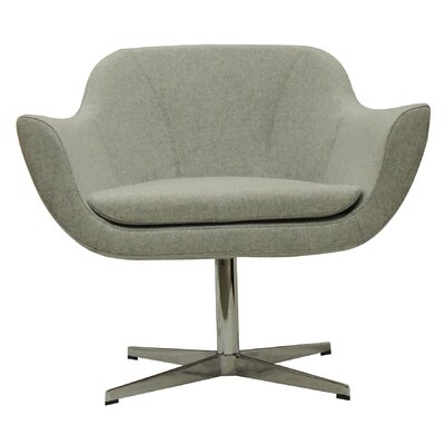 Green Camira Wool Lounge Chair Color: Charcoal Product Image 8287