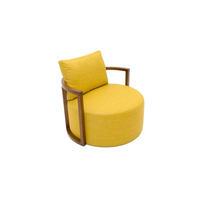 Kav Fabric Leather Lounge Chair
