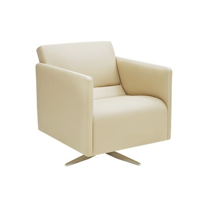 Slim Swivel Cat A Arm Chair Upholstery: White textured New King Leatherette