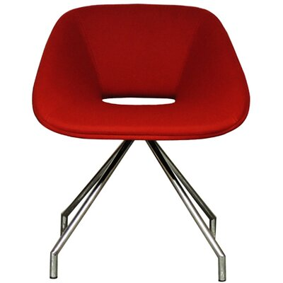 Red Swivel Eco Leather Side Chair