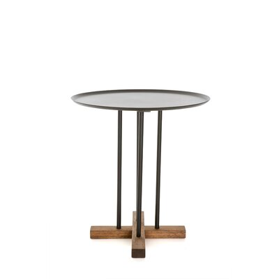 Sini End Table Top Color: Black