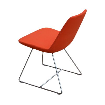 Pera Wire Base Wool Side Chair Finish: Orange