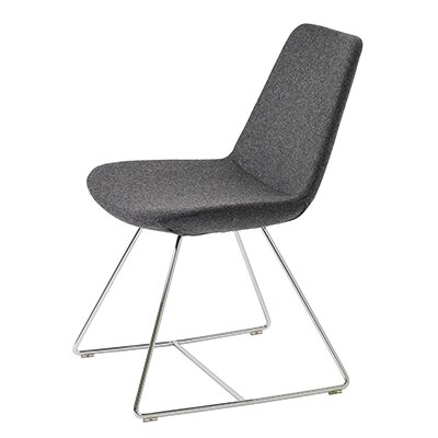 Pera Wire Base Wool Side Chair Finish: Charcoal