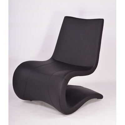 Flow Eco Leather Lounge Chair Finish: Off White