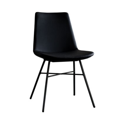 Pera X Side Chair Upholstery: Black