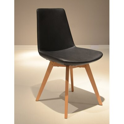 Pera Wood Chair Upholstery: Black