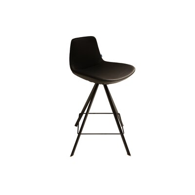 Pera 29 Swivel Bar Stool Upholstery: Black