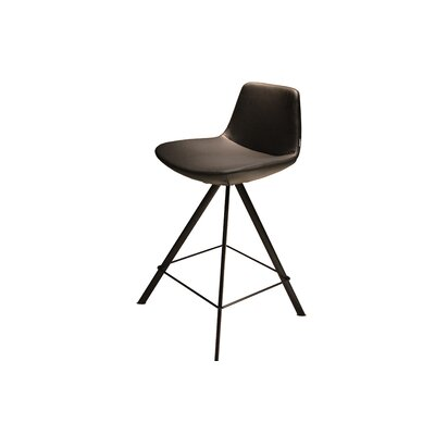 Pera 24 Swivel Bar Stool Upholstery: Black