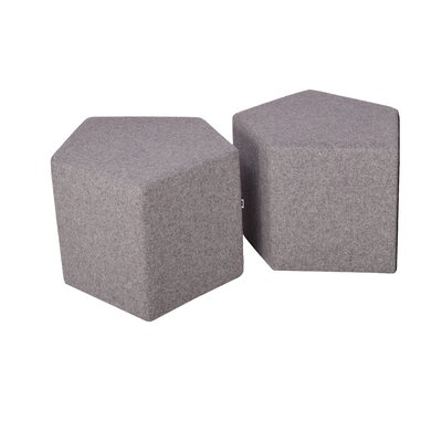 Flex Pouf Upholstery: Light Grey