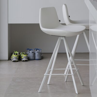 Pera 24 Swivel Bar Stool Upholstery: White
