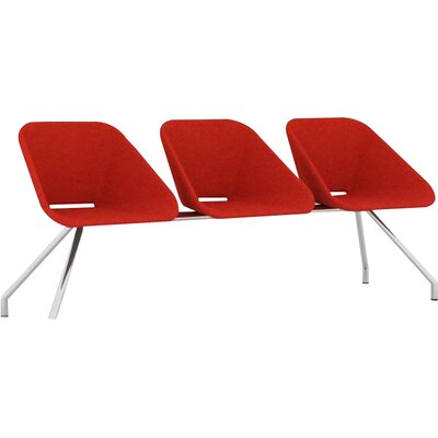 Red Three Seat Bench