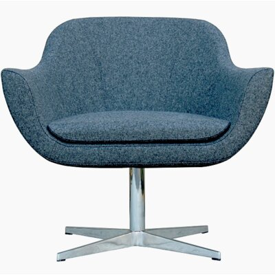 Green Camira Wool Lounge Chair Finish: Charcoal