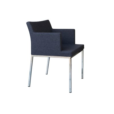 Soho Metal Base Wool Arm Chair