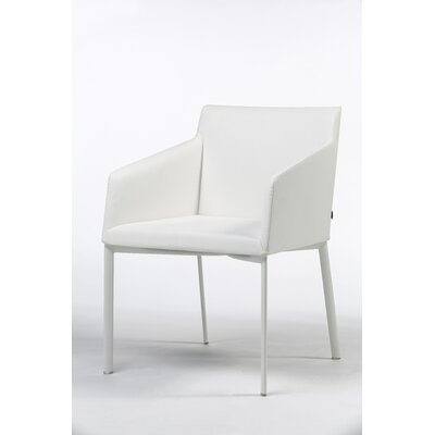 Noble Arm Chair Color: White