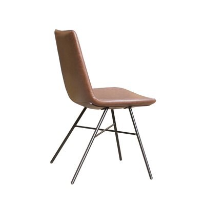 Pera X Side Chair Upholstery: Brown