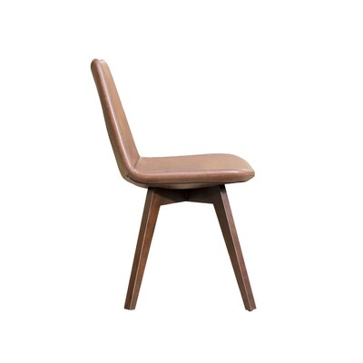 Pera Wood Chair Upholstery: Brown