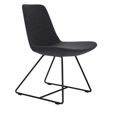 Pera Side Chair Upholstery Type - Color: Wool - Dark Gray