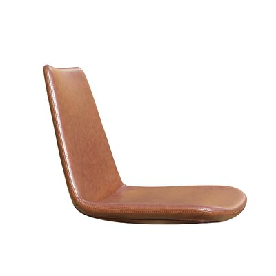 Pera Side Chair Upholstery Type - Color: Faux Leather - Brown
