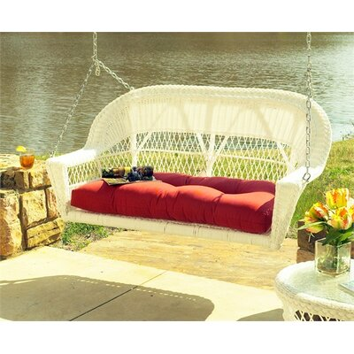 Camacho Porch Swing with Cushion Fabric: Sunbrella Foster Surfside