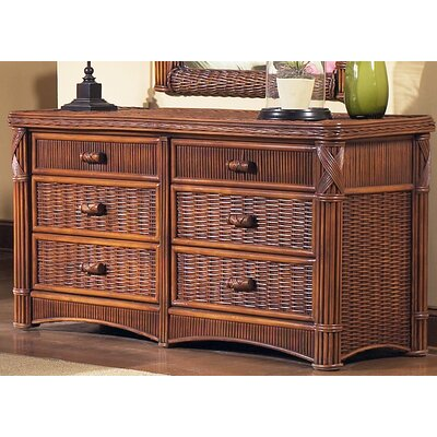 Barbados 6 Drawer Double Dresser
