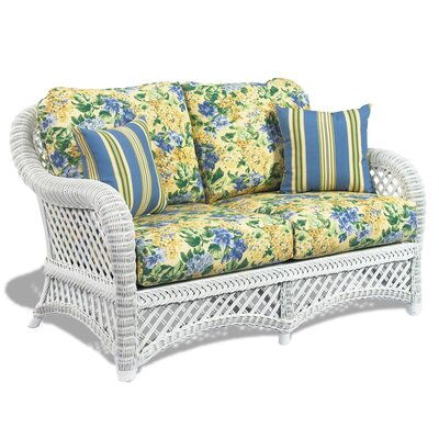Lanai Loveseat Upholstery: Spectrum Dove