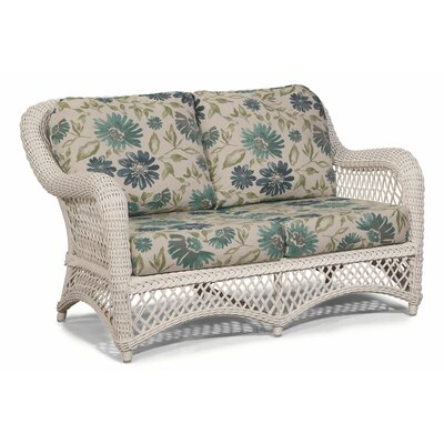 Savannah Loveseat with Cushions Fabric: Green White Stripe