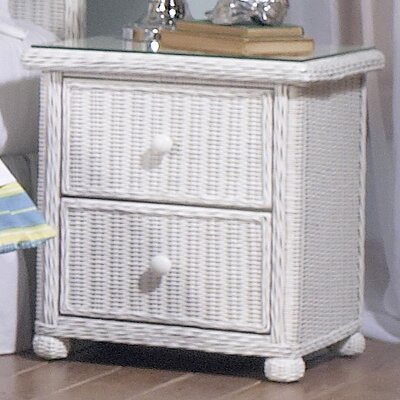 Watkins 2 Drawer Nightstand Color: White