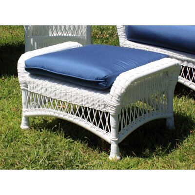 Princeton Ottoman with Cushion Fabric: Foster Surfside