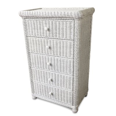 Elana 5 Drawer Chest Color: White