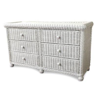 Elana 6 Drawer Dresser Color: White