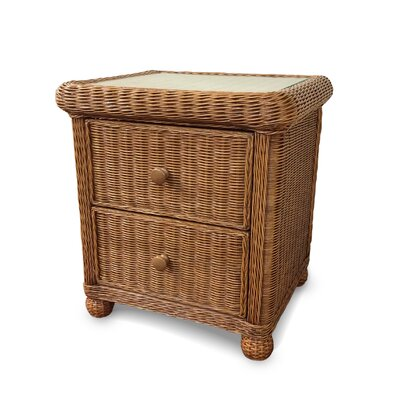 Elana 2 Drawer Nightstand Color: Honey