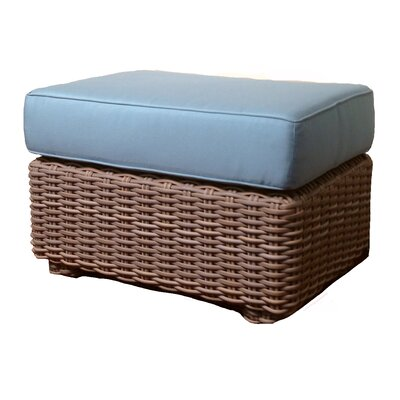 Monaco Ottoman with Cushion Fabric: Mineral Blue