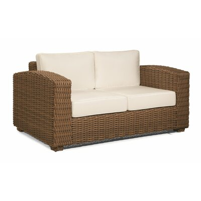 Monaco Loveseat with Cushions Upholstery: Navy