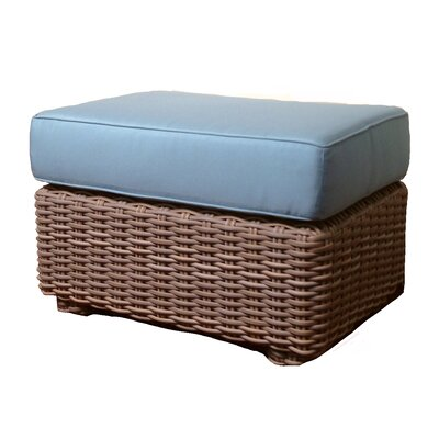 Monaco Ottoman with Cushion Fabric: Amsterdam Royal