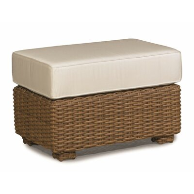 Monaco Ottoman with Cushion Fabric: Canvas Natural