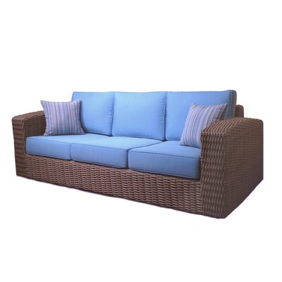 Monaco Sofa with Cushion Color: Canvas Natural
