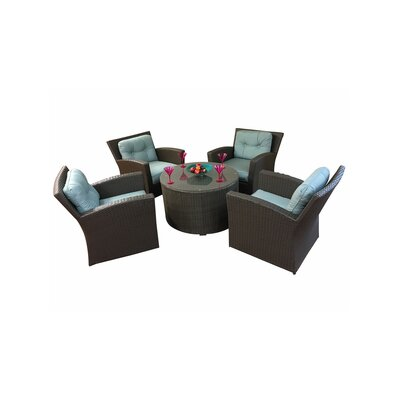 Sonoma 5 Piece Deep Seating Group with Cushions Fabric: Buttercup