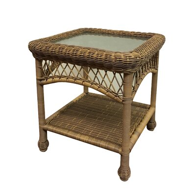 Camacho Glass Top Side Table Finish: Natural