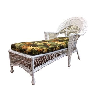 Madison Chaise Lounge with Cushion Finish: White, Fabric: Sunbrella Red