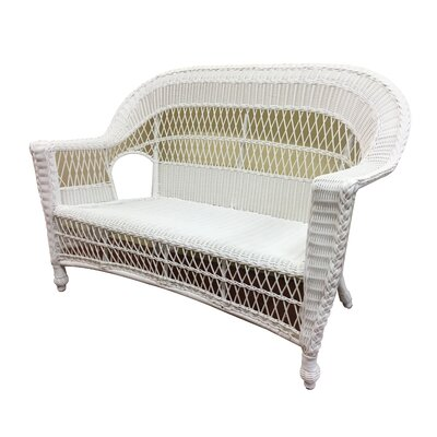 Madison Loveseat Finish: White