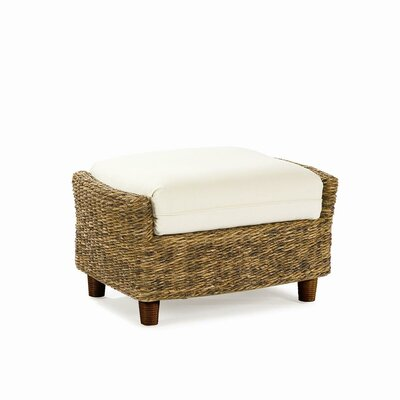 Tangiers Ottoman with Cushion Fabric: Bahamian Breeze Coal