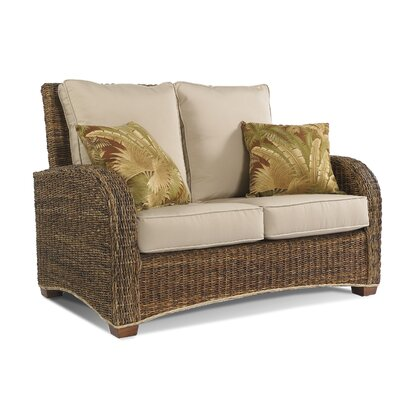 St Kitts Loveseat Upholstery: Bahamian Breeze Coal