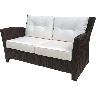 Sonoma Loveseat with Sunbrella Cushions Fabric: Sunbrella Natural