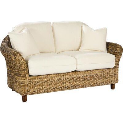 Tangiers Loveseat Upholstery: Bahamian Breeze Coal