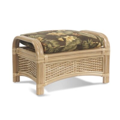 Tropical Breeze Ottoman Upholstery: Garden Scroll