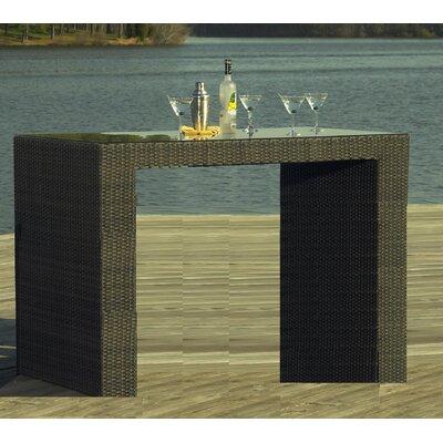 South Hampton Outdoor Wicker Bar Table