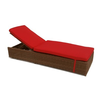 Santa Barbara Chaise Lounge with Cushions Fabric: Sunbrella Logo Red