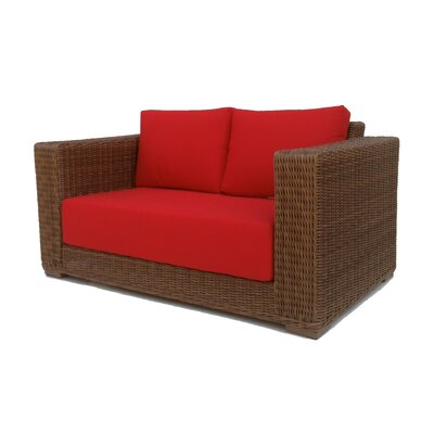 Santa Barbara Loveseat with Cushions Fabric: Sunbrella Aruba