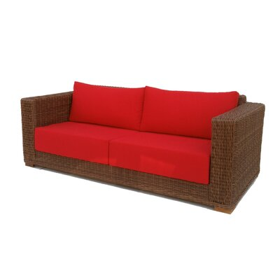Santa Barbara Sofa with Cushions Fabric: Sunbrella Logo Red